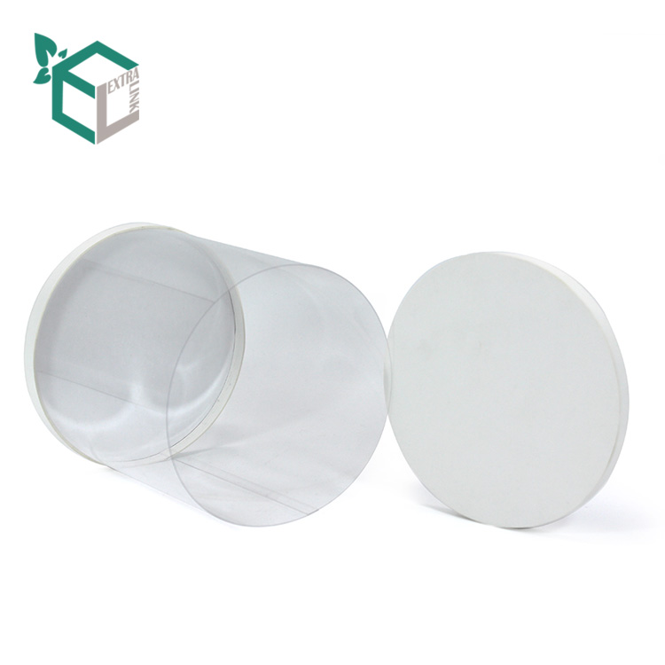 Cheap White Paperboard Bottom Tube With PVC Windows