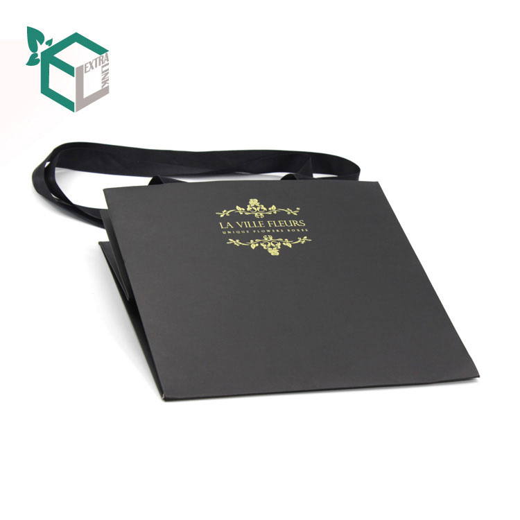 Custom Big Paper Bags With Handle Shopping Packaging Bags