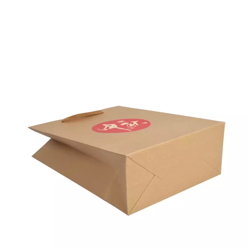 Eco-friendly Kraft Paper Bag Moon Cake Gift Bag With Logo Printed
