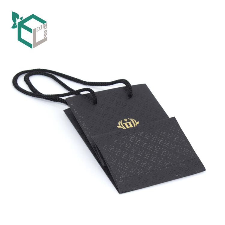 Fashion Jewelry Packaging Bag With Custom UV Finished Shopping Gift Bag