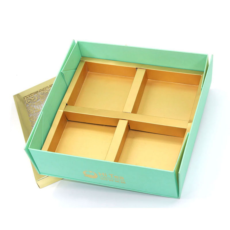 Factory Price New Designs with Lid Foldable Gift Moon Cake Box