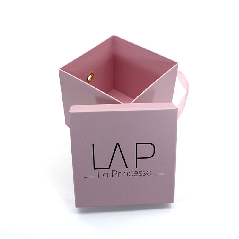 Luxury Custom Design Logo Cardboard Paper Flower Gift Box