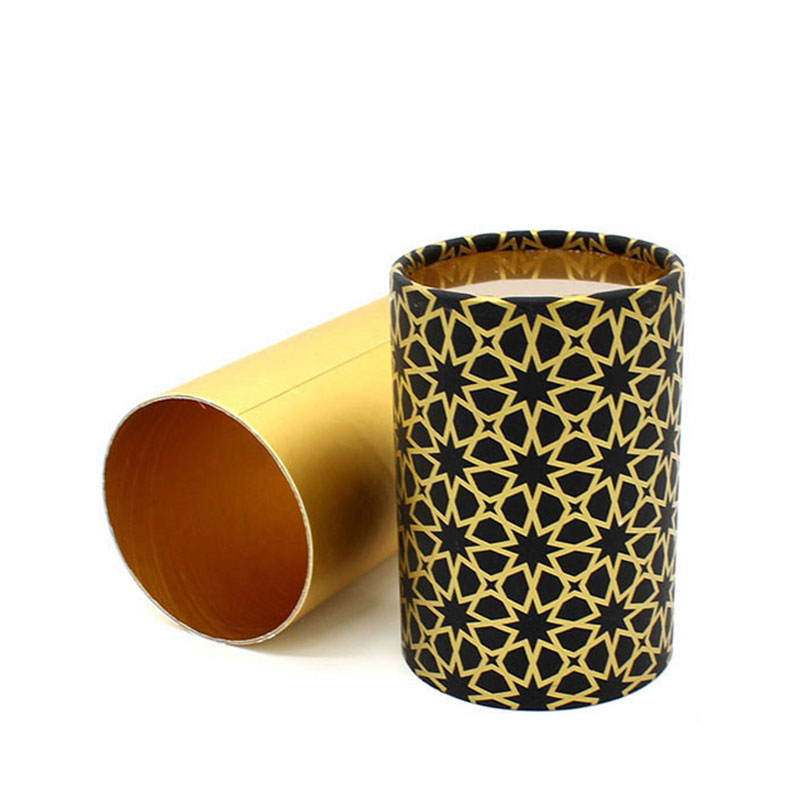 Handmade Custom Elegant Eco Friendly Fanny Paper Gift Cylinder Box