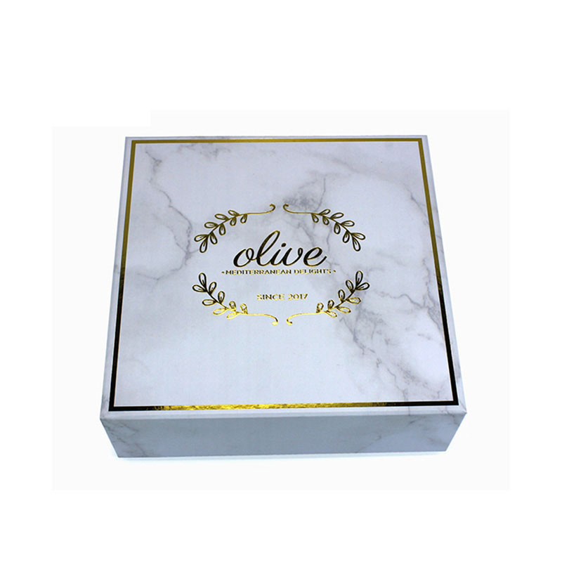 Custom Beautiful Marble Paper Luxury Jewelry Packaging Box