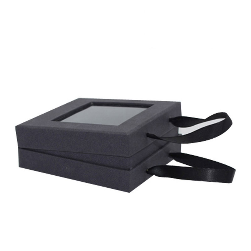 Customised Black with Portable Rope Paper Jewellery Box