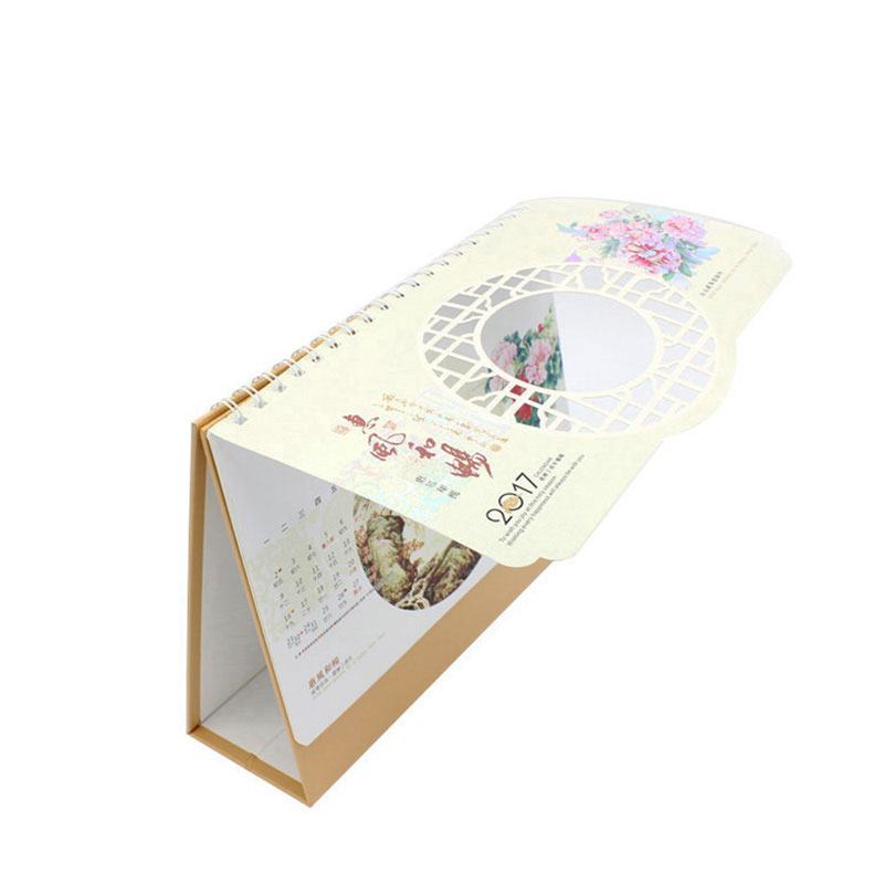 Customized 365 Day Spiral Bound Desk Perpetual Calendar Printing