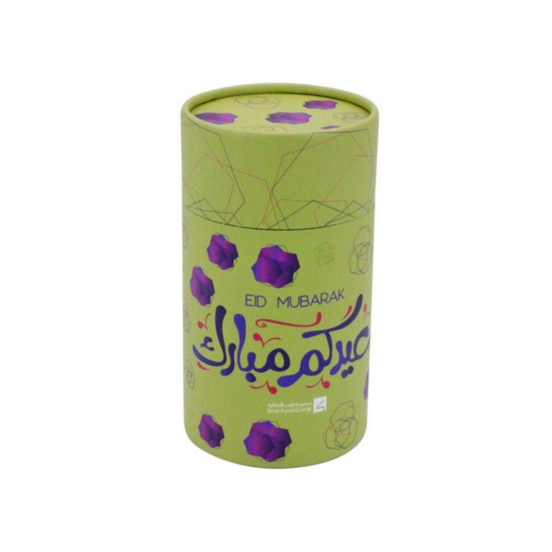 Custom Size Paper Round Cylinder Storage Tea Packaging Box
