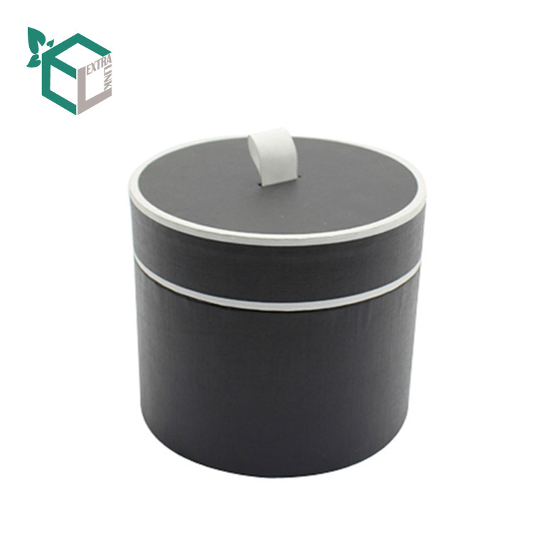 Black Cylinder Paper Round Candle Jar Packaging