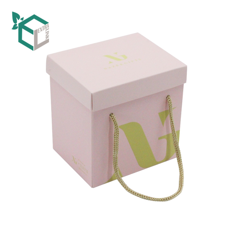 Gift Packaging Folding Candle Box With Rope