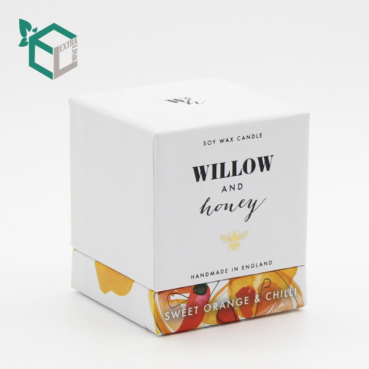 Paper Gift Packaging Custom Printed Candle Box