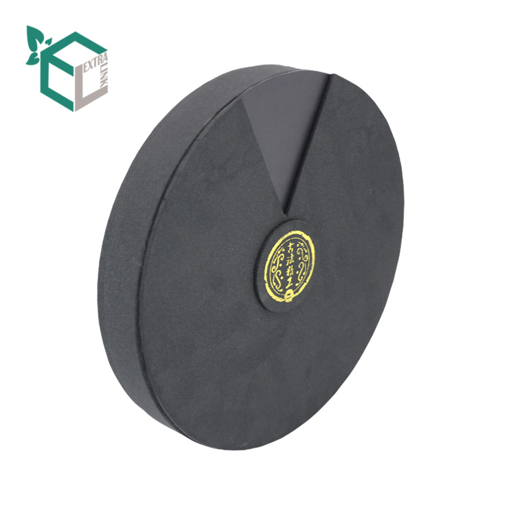Custom Black Fancy Paper Candy Luxury Paper Round Box with Drawer