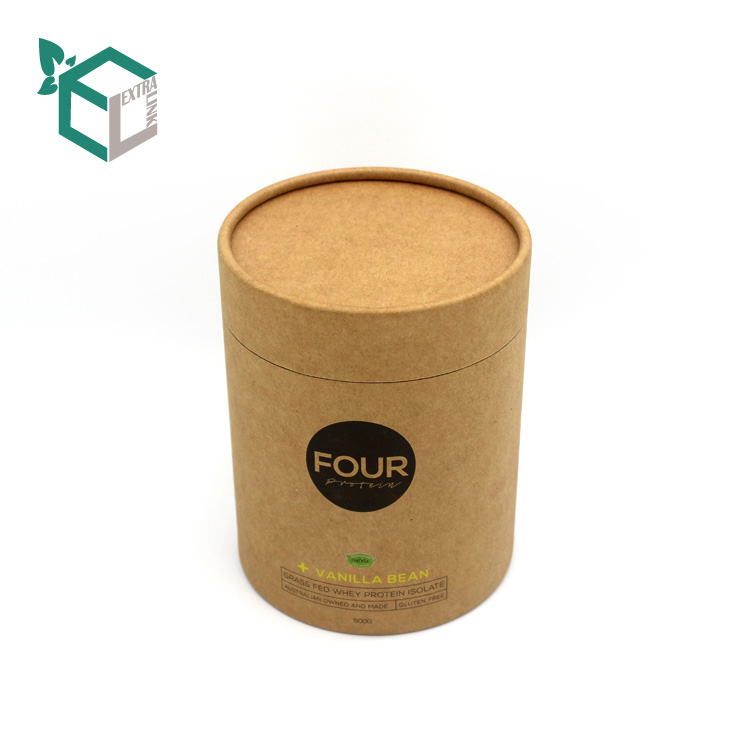 Food Grade High Quality Kraft Paper Round Box Paper Tube With Aluminum Inside
