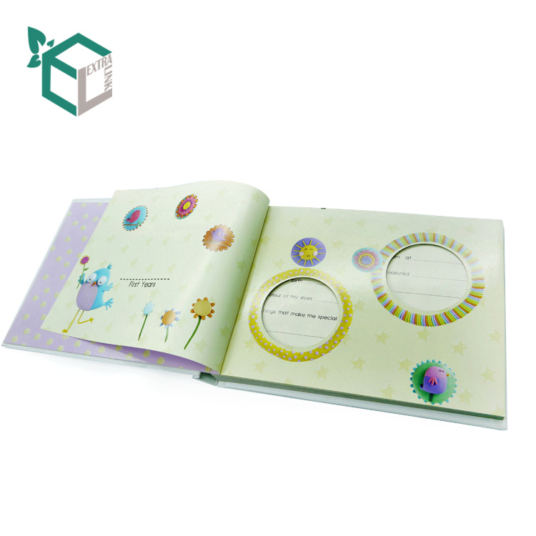 Printing Service Cardboard Cover For English Memory Book For Baby