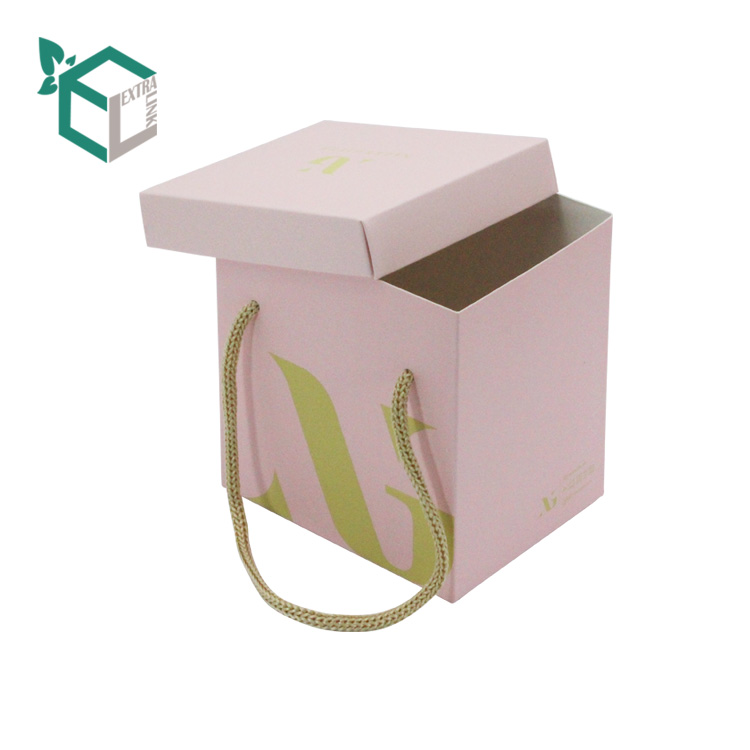 Custom Two Pieces Pink Flower Box Luxury With Low Price