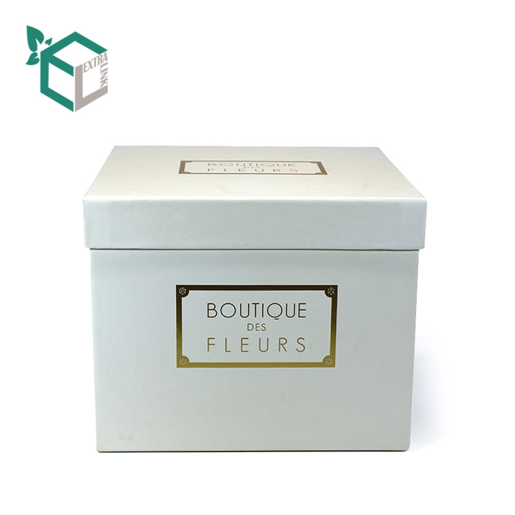 Printing White Flower Gift Box Chinese Factory