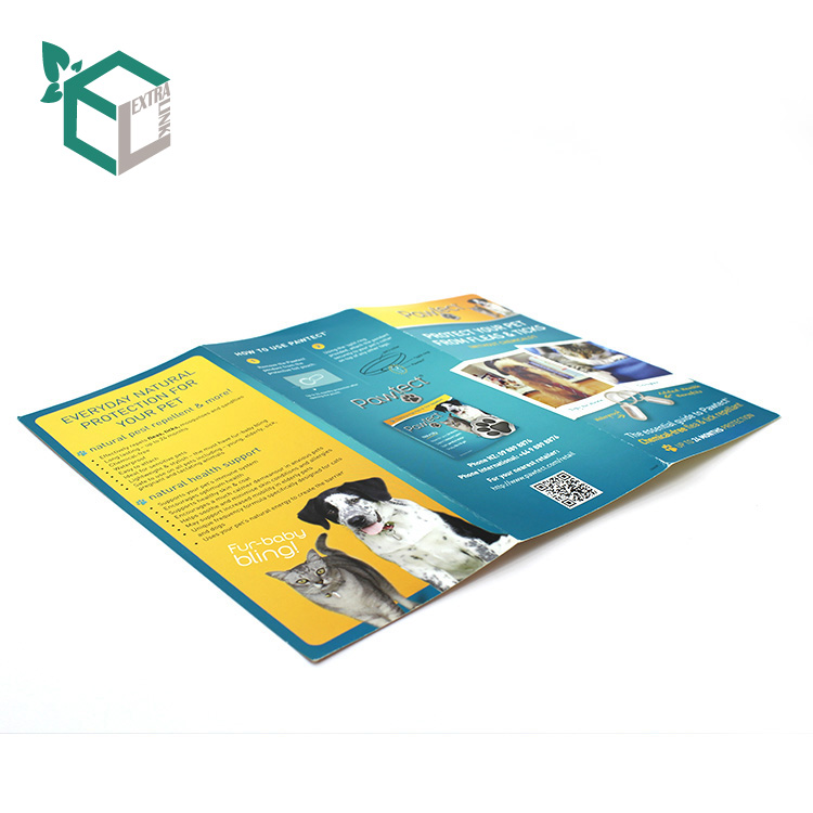 Glossy Coated Paper Folding Flyer Printing With Glossy Lamination Printing