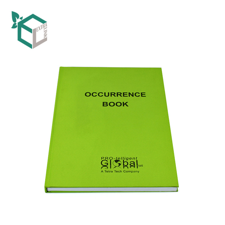Academic A5 Printed Logo Customized PU Leather Hardcover Notebook