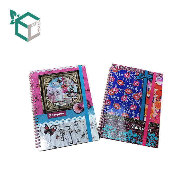 School Supplies Exercise Note Books Diary Kraft Custom Spiral Notebook Printing
