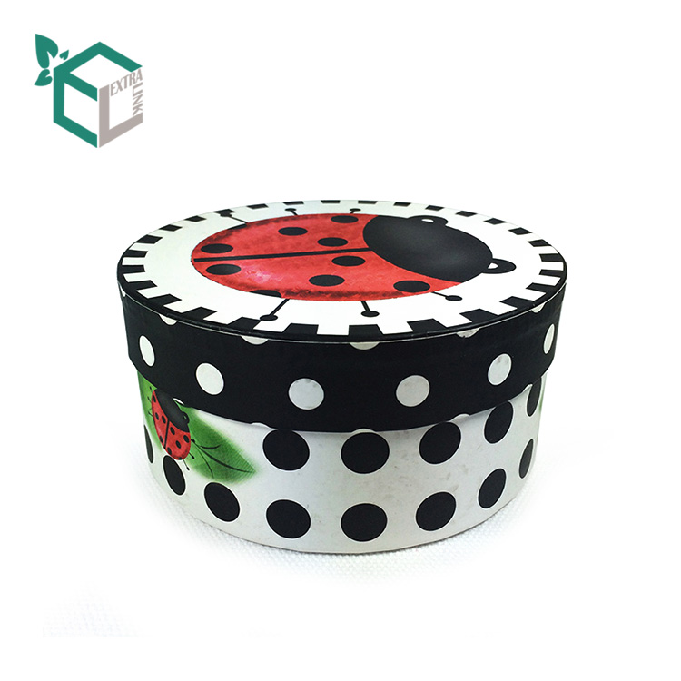 Cute Custom Design Printing Glossy Film Round Box For Chocolate