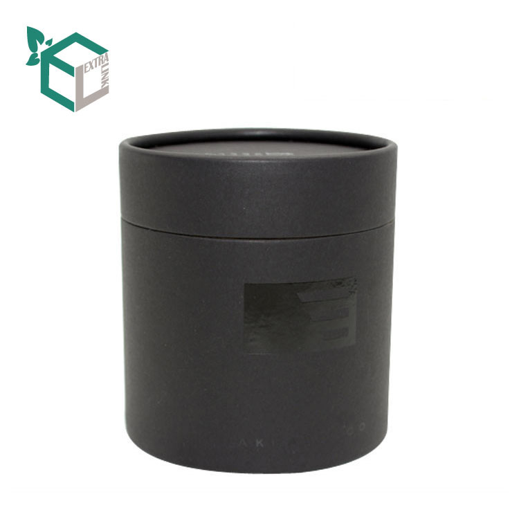 Matt Black Card Material Uv Logo Candle Paper Tube
