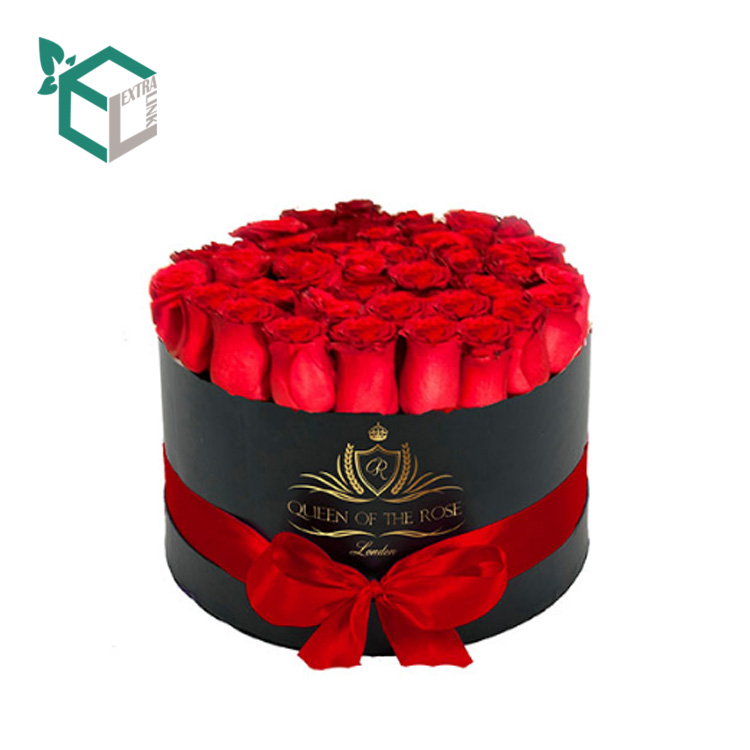 Chinese Factory Wholesale Cylinder Flower Box With Ribbon