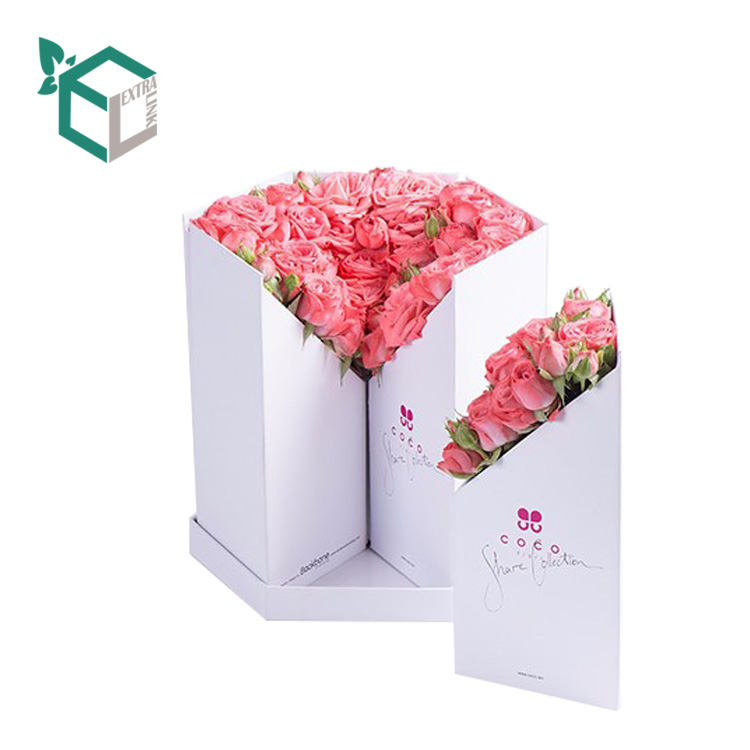 Eco-Friendly Cmyk Printing Irregular Gift Box Flower Packaging